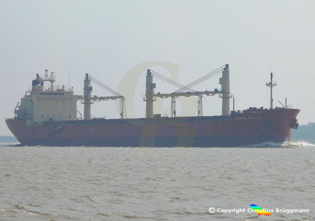 Bulk Carrier FEDREAL KIVALINA, Elbe 30.04.2019 / Bild 2