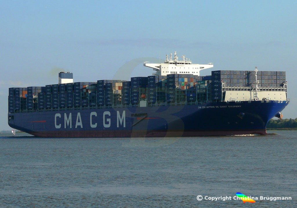 Containerschiff CMA CGM ANTOINE DE SAINT EXUPERY, 40 Jahre CMA CGM, 07.09.2018, Bild 4