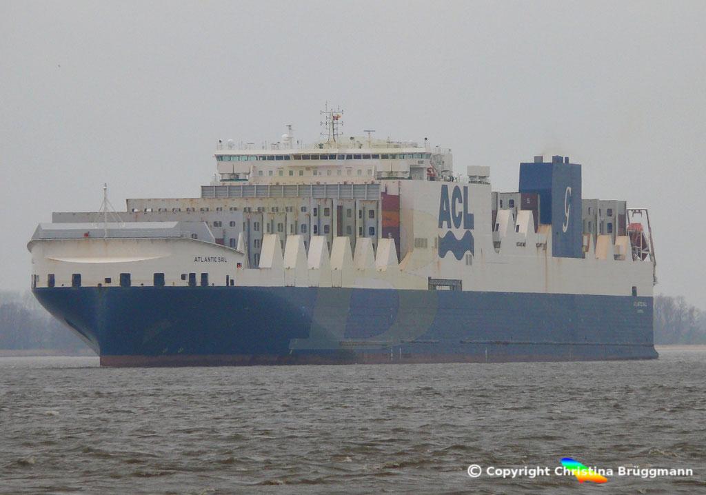 ACL Con-Ro Schiff ATLANTIC SAIL, Elbe 19.02.2019,   BILD 1