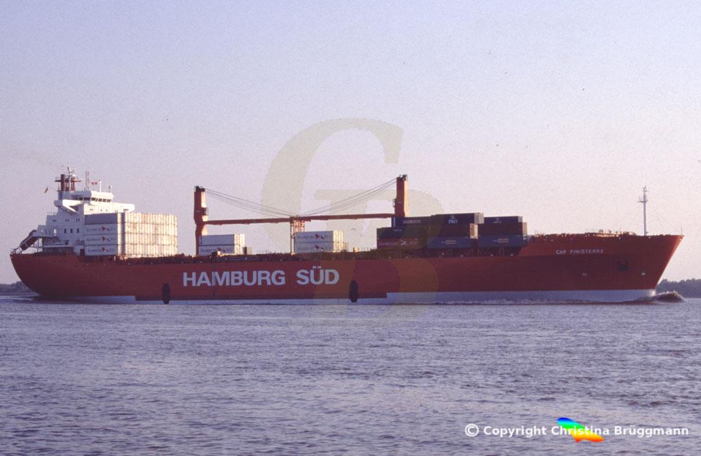 Hamburg Süd Containerschiff CAP FINISTERRE, Elbe 2005,  BILD 3