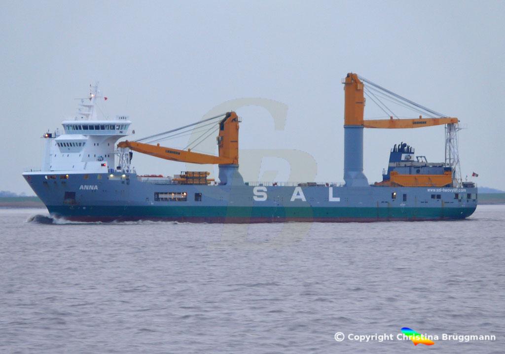 SAL Heavy Lift Schwergutfrachter ANNA, Elbe 30.01.2019,  BILD 2