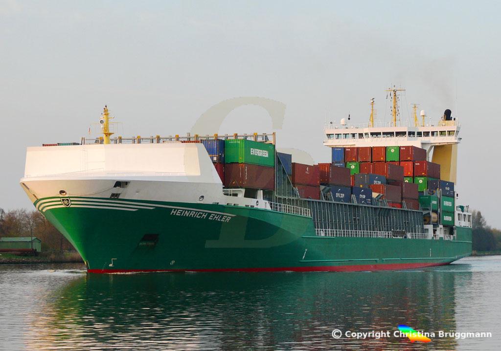Containerschiff HEINRICH EHLER, NOK 07.04.2019, Sietas TYP 178,  BILD 3