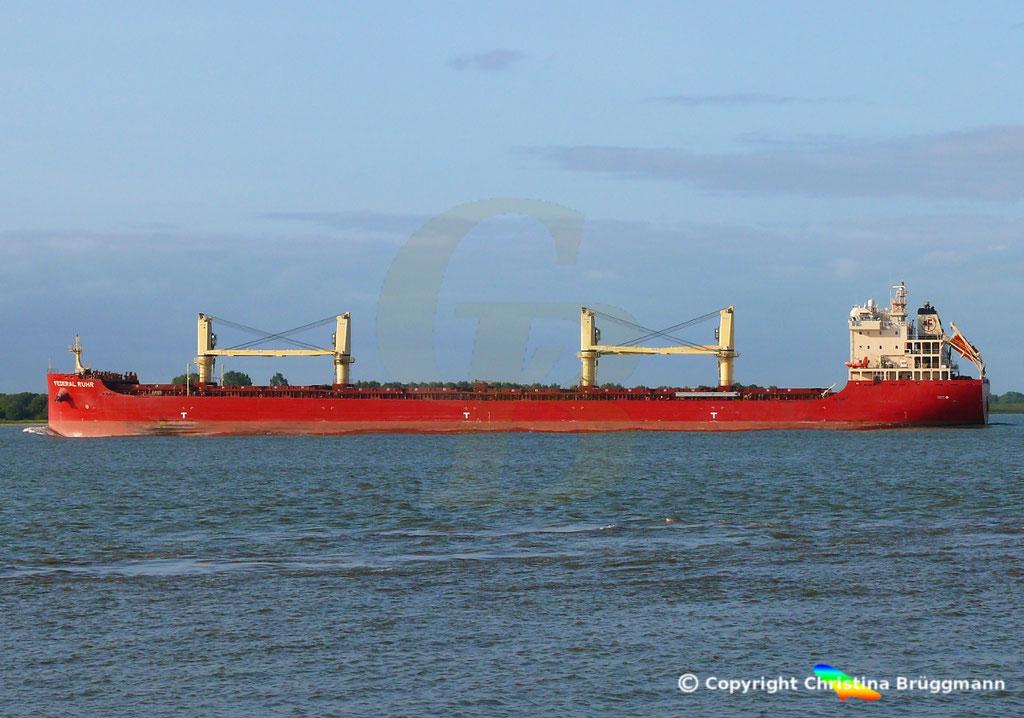 Bulk Carrier FEDERAL RUHR, Elbe 31.08.2018, Bild 5