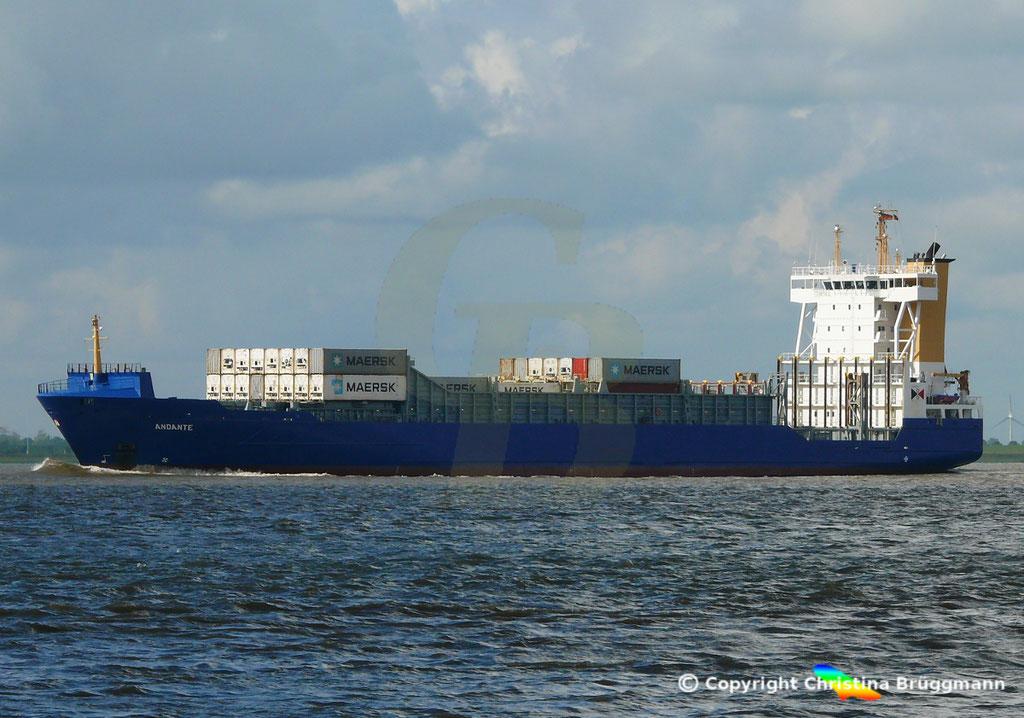 Containerschiff (Feeder) ANDANTE, 07.09.2018, Bild 2