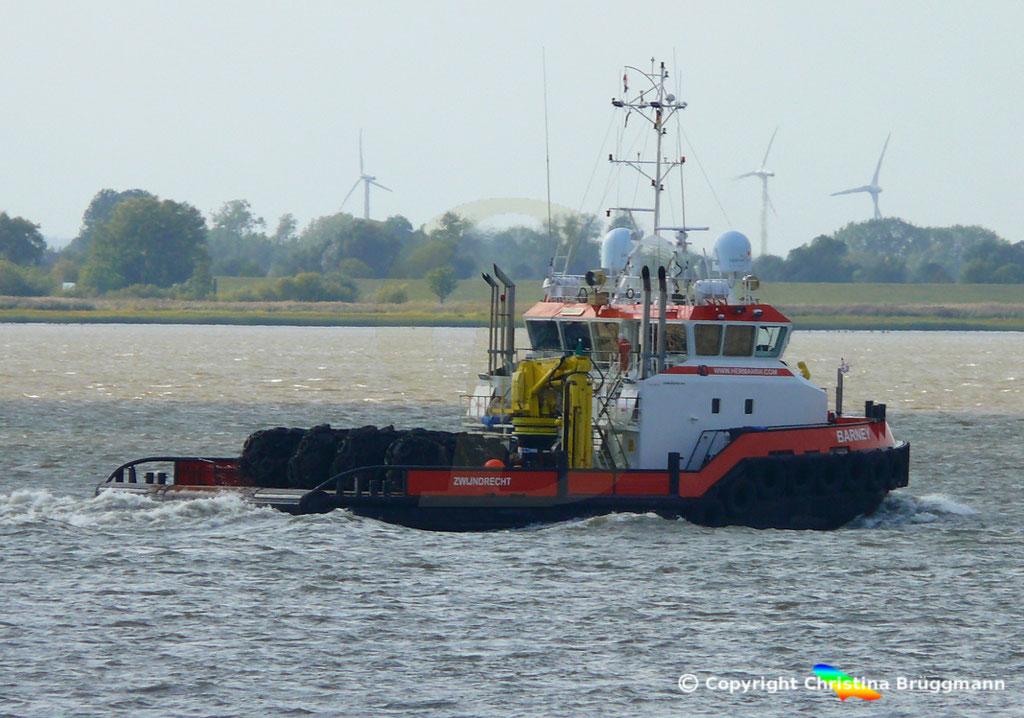 Versorgungs- und Ankerziehschlepper BARNEA, Elbe 19.092018, BILD 1