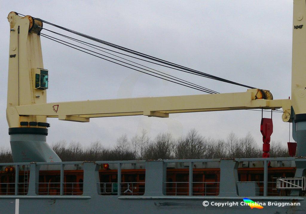 320 t vom Hersteller NMF auf der ANNEGRET der SAL