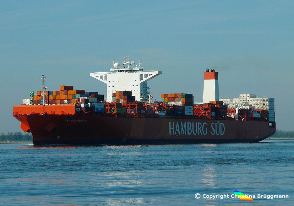 Containerschiff CAP SAN NICOLAS, Elbe 27.03.2017, Bild 4