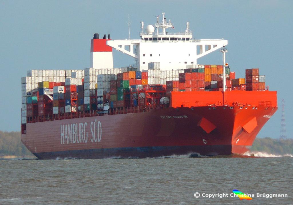 CAP SAN AUGUSTIN auf der Elbe 27.04.2015, BILD 1