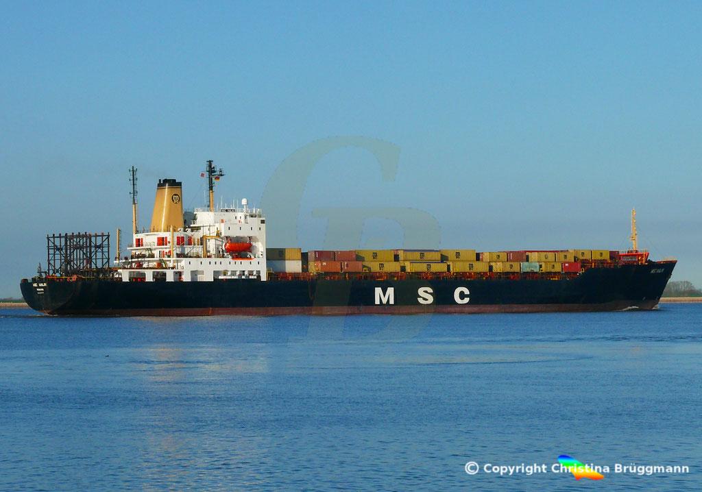 Containerschiff MSC MALIN, Elbe 10.04.2019,  BILD 6