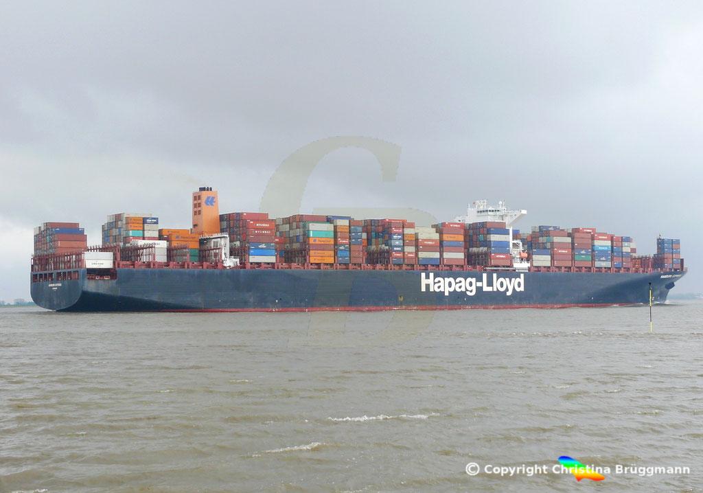 Containerschiff HAMBURG EXPRESS, Elbe 29.03.2017, BILD 5