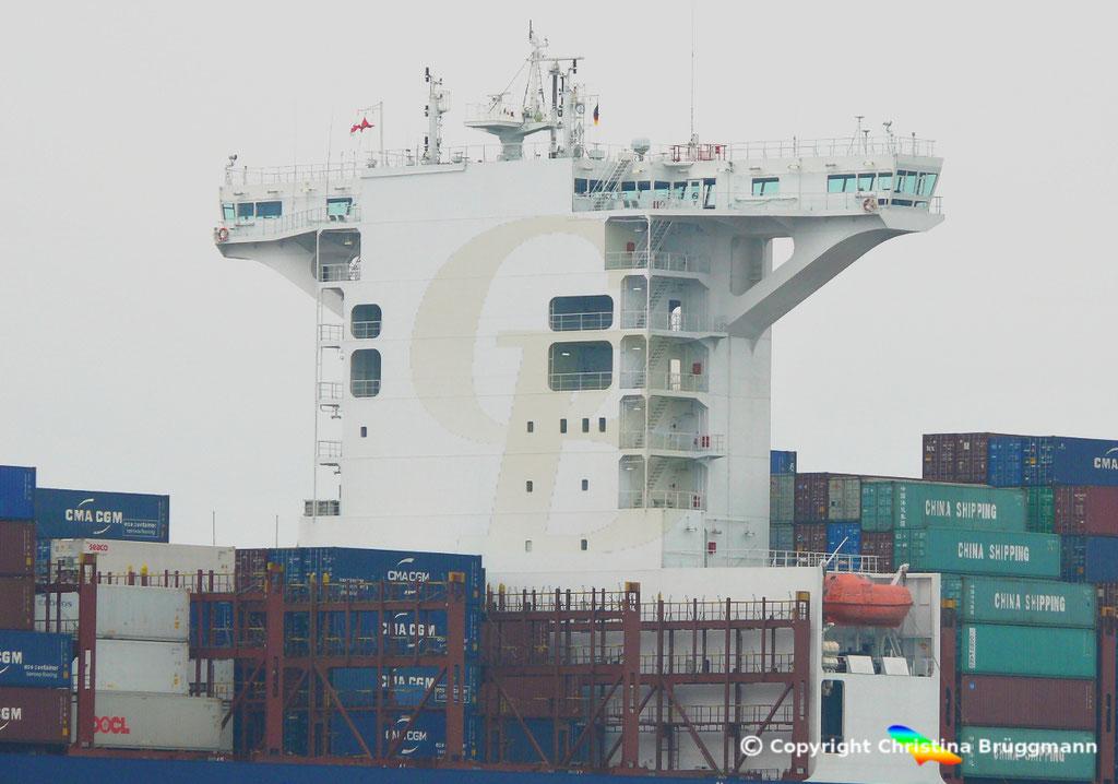 Containerschiff APL FULLERTON, nach Upgrade, Elbe 20.03.2019,  BILD 8