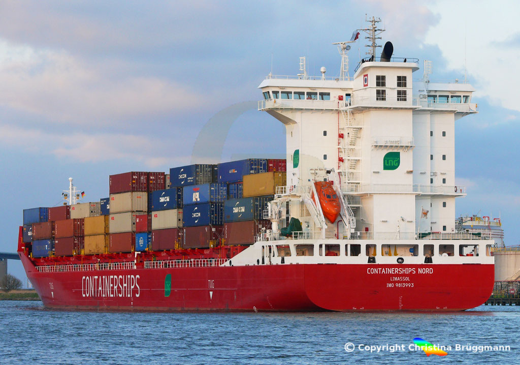 LNG Containerschiff CONTAINERSHIPS NORD, NOK 13.04.2019,   BILD 9