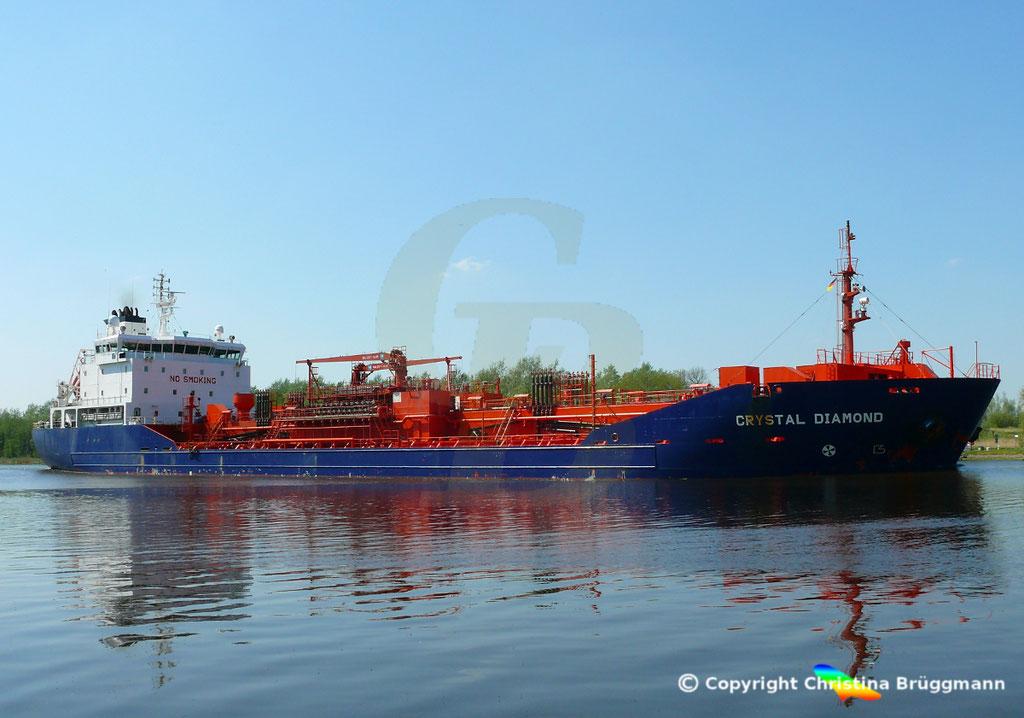 Chemie- /Öltanker CRYSTAL DIAMOND, Nord Ostsee Kanal 09.05.2018,  BILD 1