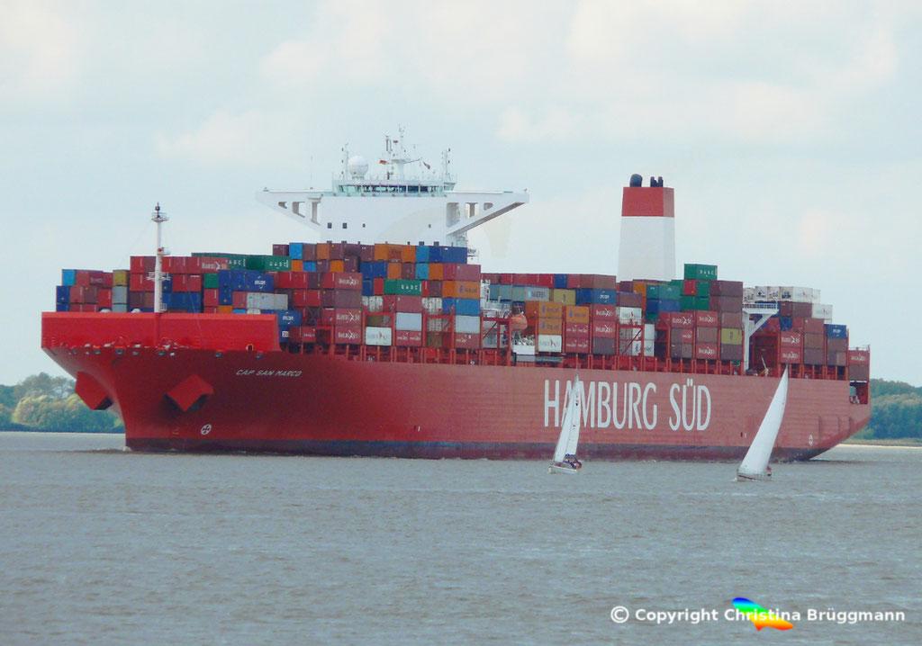 Containerschiff CAP SAN MARCO, Elbe 02.10.2016, BILD 1