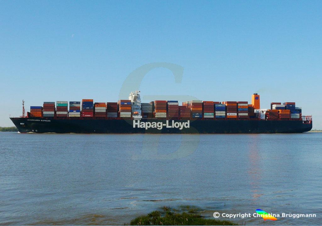 Containerschiff LEVERKUSEN EXPRESS, Elbe 19.04.2017 / BILD 5