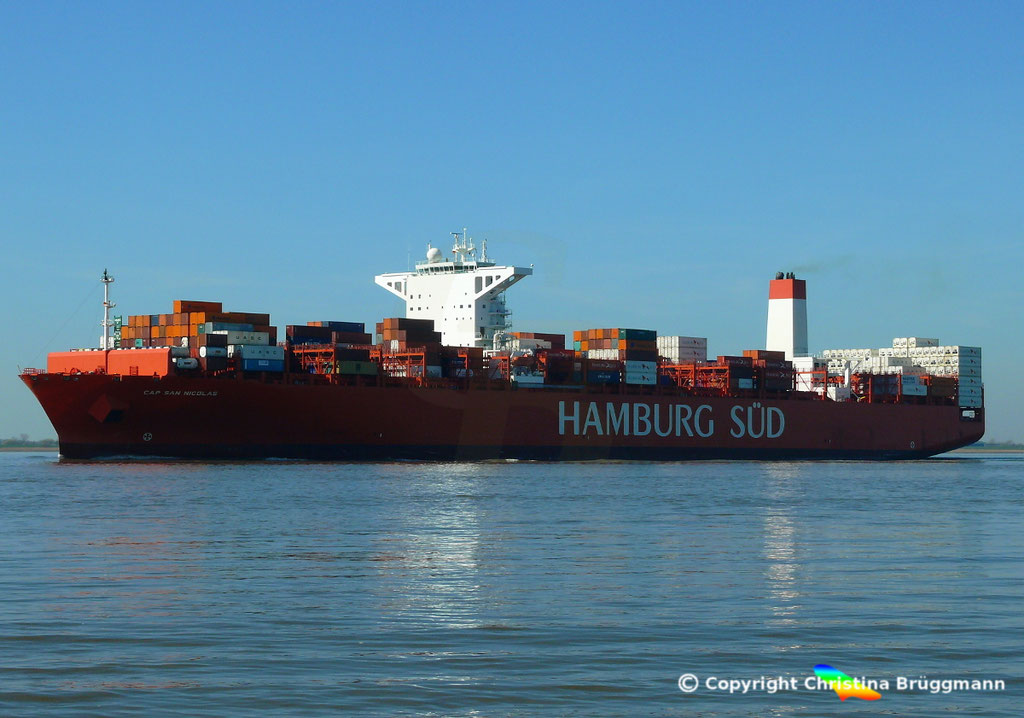 Containerschiff CAP SAN NICOLAS, Elbe 27.03.2017, Bild 5