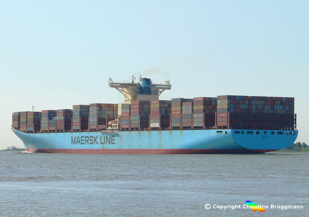 Containerschiff ELLY MAERSK, Elbe 07.08.2018,  BILD 6