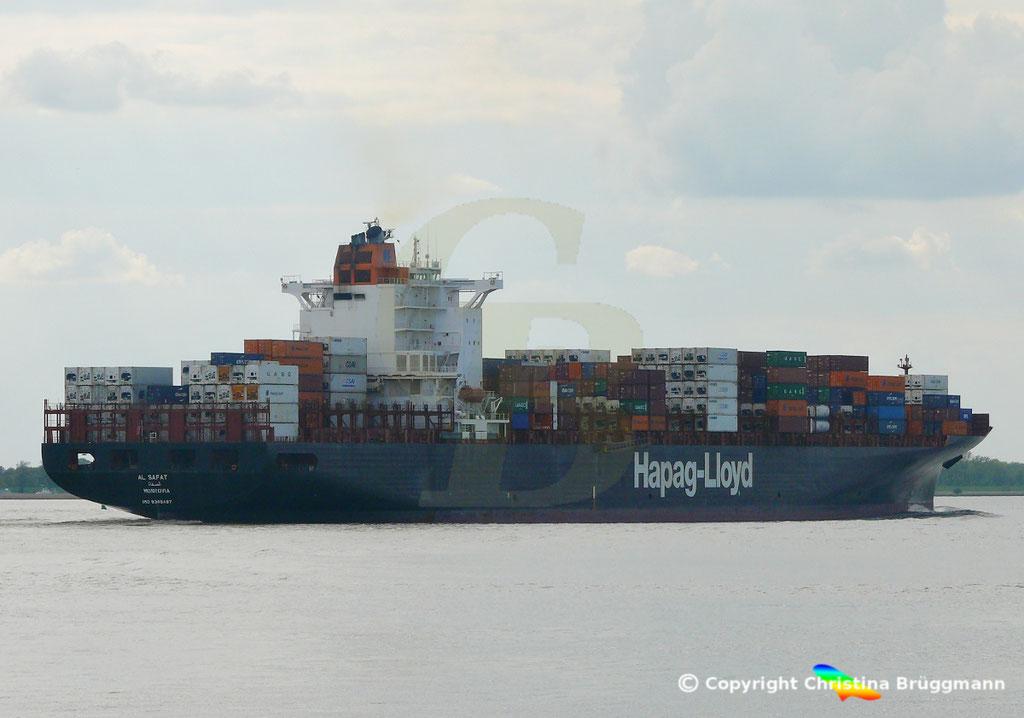 Hapag-Lloyd Containerschiff AL SAFAT, Elbe 09.05.2019 /  BILD 5