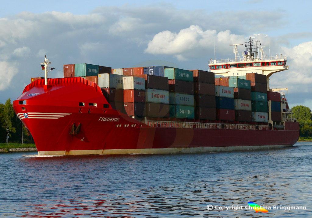 Containerschiff FREDERIK, 25.09.2018, Bild 2