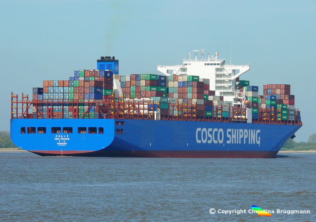 Containerschiff CSCL URANUS, Elbe 11.05.2017, BILD 7
