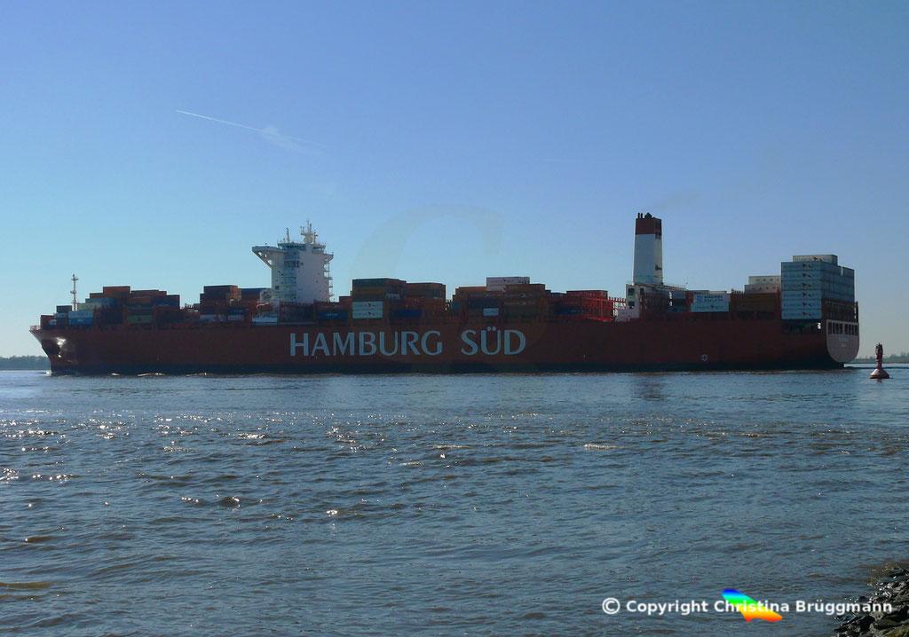 Containerschiff CAP SAN NICOLAS, Elbe 27.03.2017, Bild 7