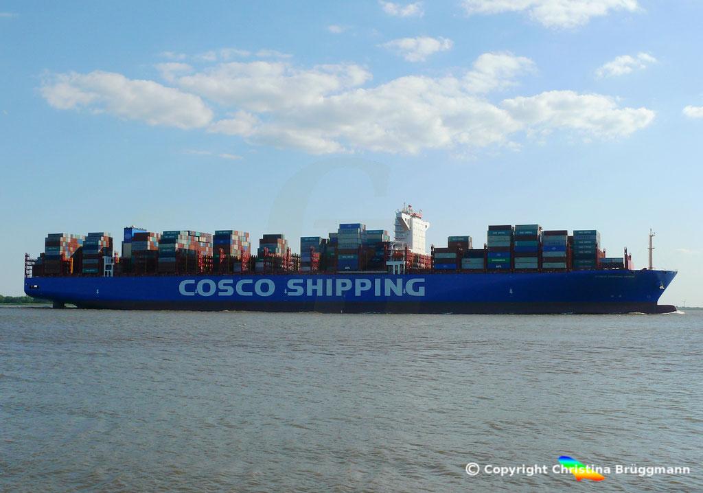 Containerschiff COSCO SHIPPING GEMINI, 21.05.2018, BILD 4