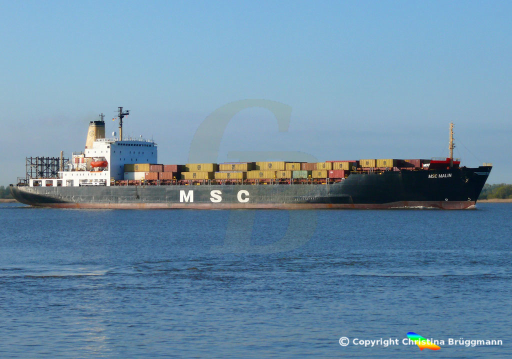 Containerschiff MSC MALIN, Elbe 10.04.2019,  BILD 3
