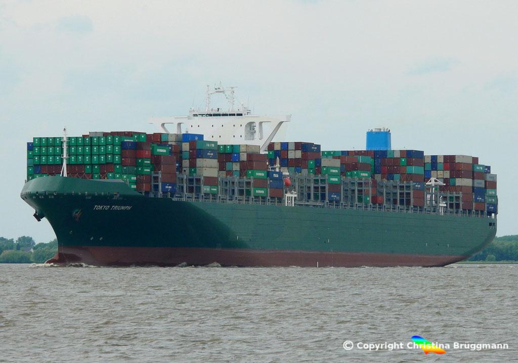 Containerschiff TOKYO TRIUMPH, Elbe 06.06.2017 / BILD 3