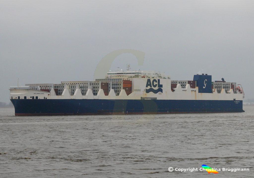 ACL Con-Ro Schiff ATLANTIC SAIL, Elbe 19.02.2019,   BILD 4