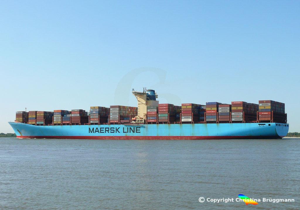 Containerschiff ELLY MAERSK, Elbe 07.08.2018,  BILD 5