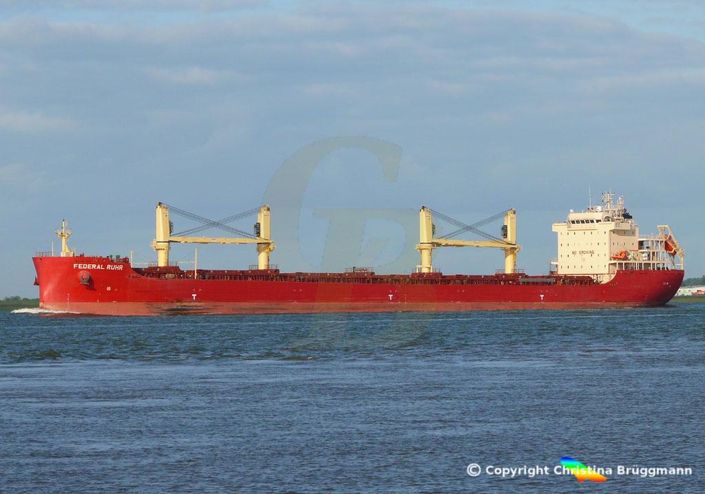Bulk Carrier FEDERAL RUHR, Elbe 31.08.2018, Bild 3