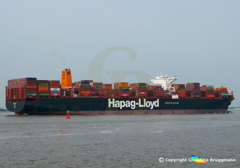 Containerschiff AL JMELIYAH, Elbe 08.05.2019 /  BILD 5