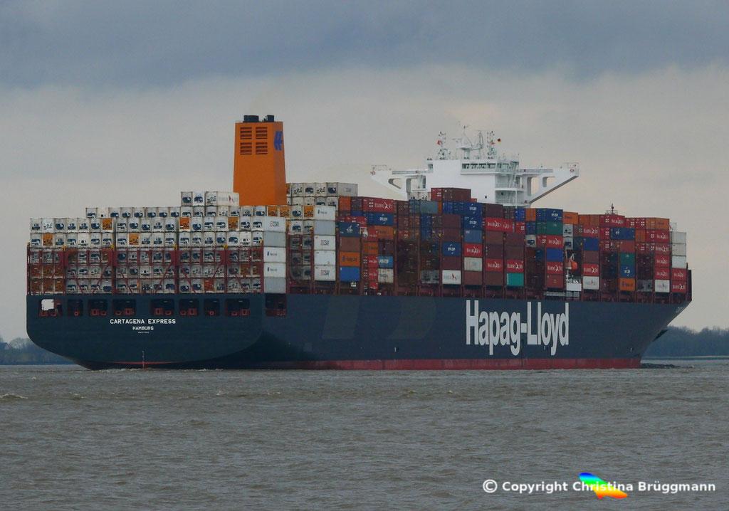 Containerschiff CARTAGENA EXPRESS, Elbe 05.03.2017, BILD 6