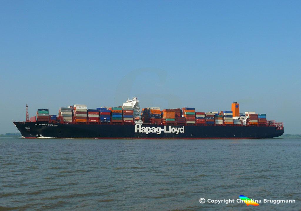 Hapag-Lloyd Containerschiff ANTWERPEN EXPRESS, Elbe 21.08.2015, BILD 5