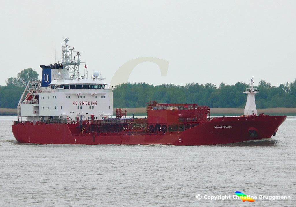 Chemie- / Ölprodukttanker KLISTRAUM, Elbe 08.05.2019 / BILD 1