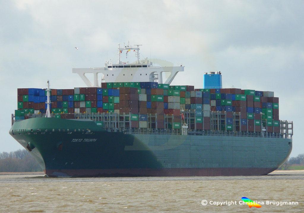 Containerschiff TOKYO TRIUMPH, Elbe 19.03.2019 / BILD 8