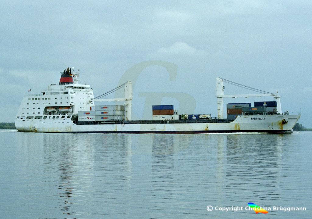 Container- / Passagierschiff AMERICANA, Elbe 2002,  BILD 3