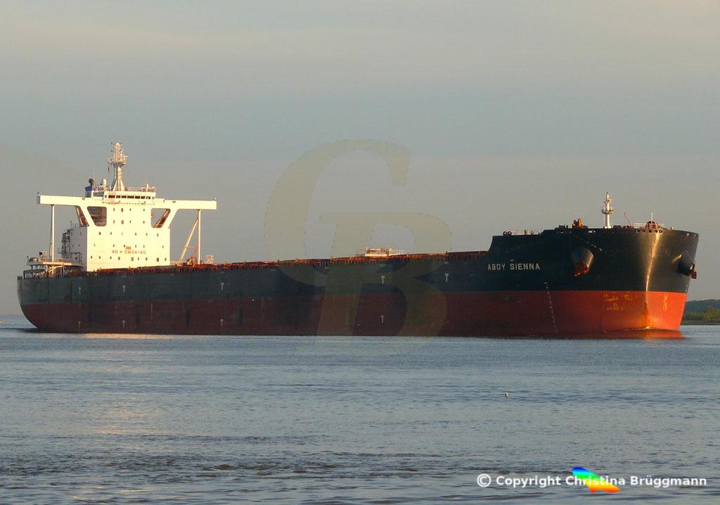 Bulk Carrier ABOY SIENNA, Elbe 17.09.2018, Bild 4