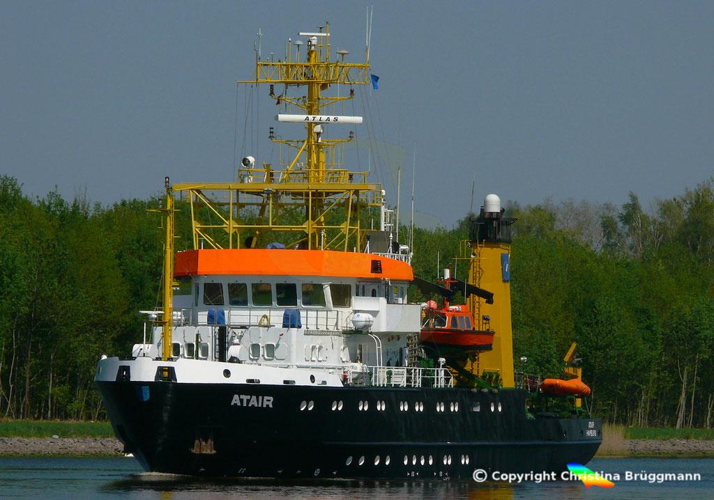 Vermssungs- Wrachsuch- u. Forschungsschiff ATAIR, Nord-Ostsee Knal 09.05.2019, BILD 2