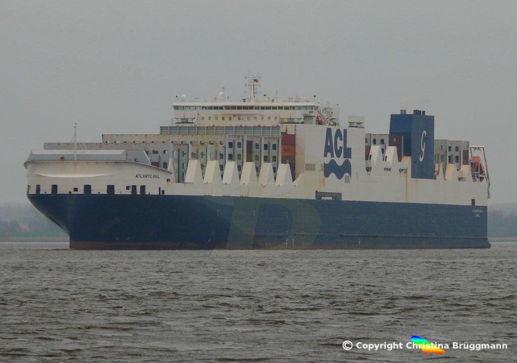 ACL Con-Ro Schiff ATLANTIC SAIL, Elbe 19.02.2019,   BILD 2