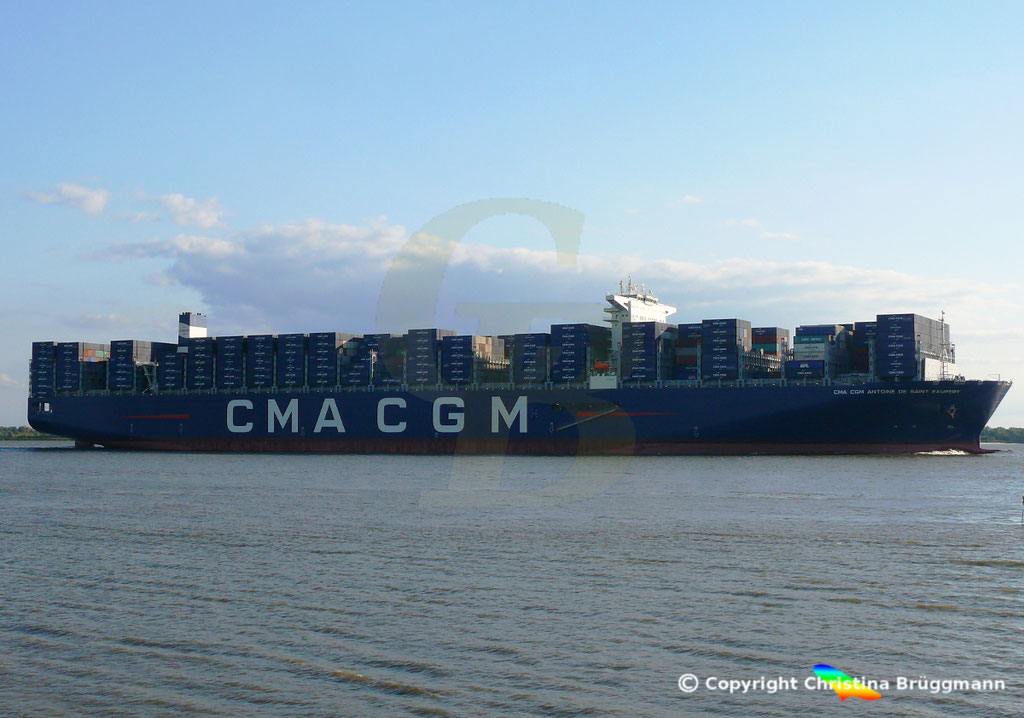 Containerschiff CMA CGM ANTOINE DE SAINT EXUPERY, 40 Jahre CMA CGM, 07.09.2018, Bild 6