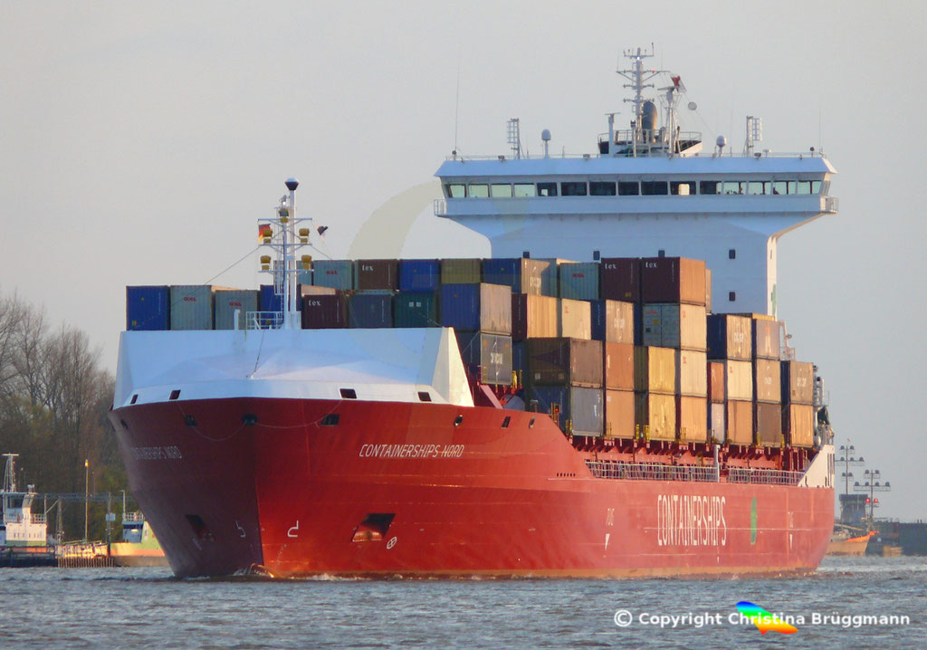 LNG Containerschiff CONTAINERSHIPS NORD, NOK 13.04.2019,   BILD 1