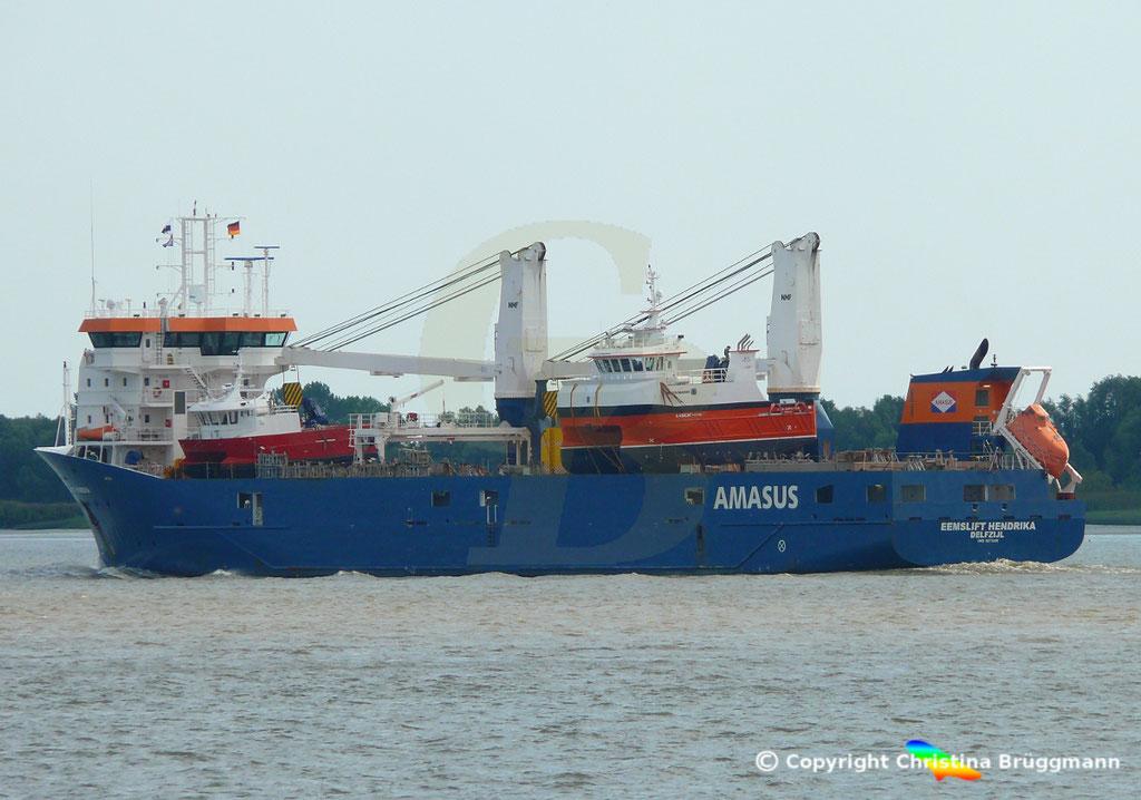 EEMSLIFT HENDRIKA auf der Elbe 18.08.2018 / Bild 5