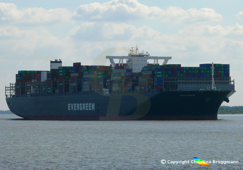 Containerschiff EVER GENIUS, Elbe 14.09.2018, BILD 2