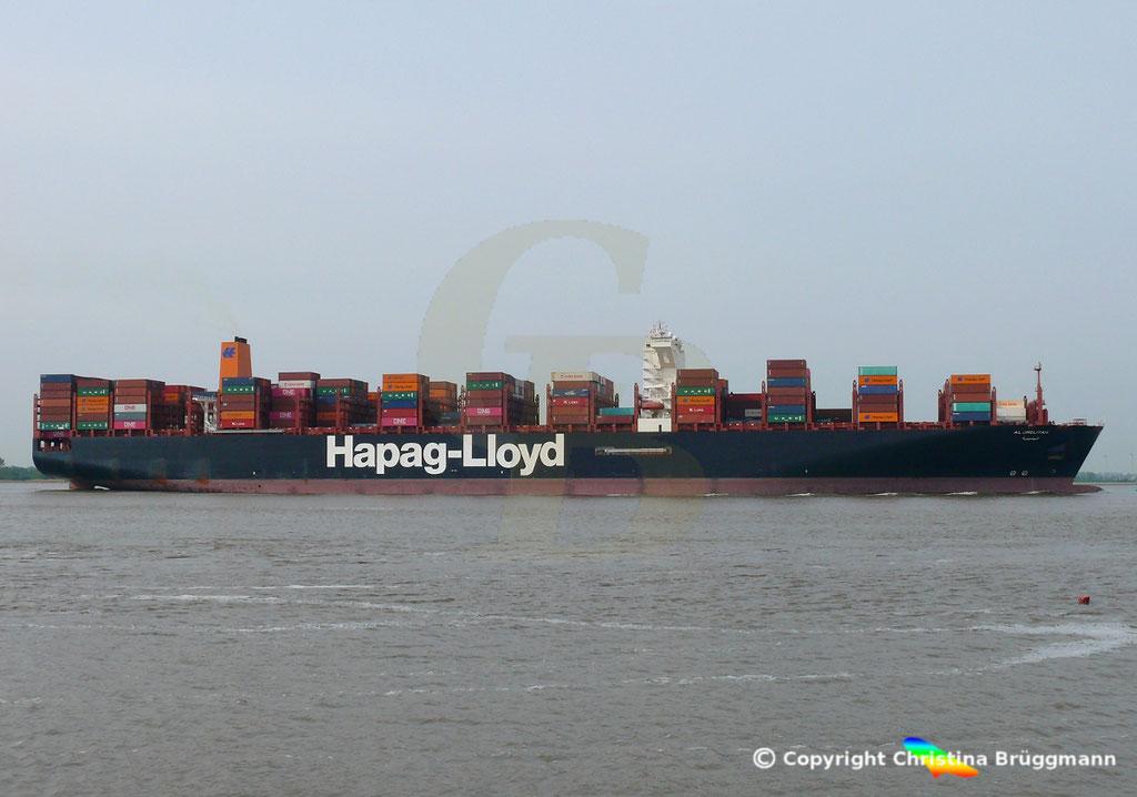 Containerschiff AL JMELIYAH, Elbe 08.05.2019 /  BILD 4