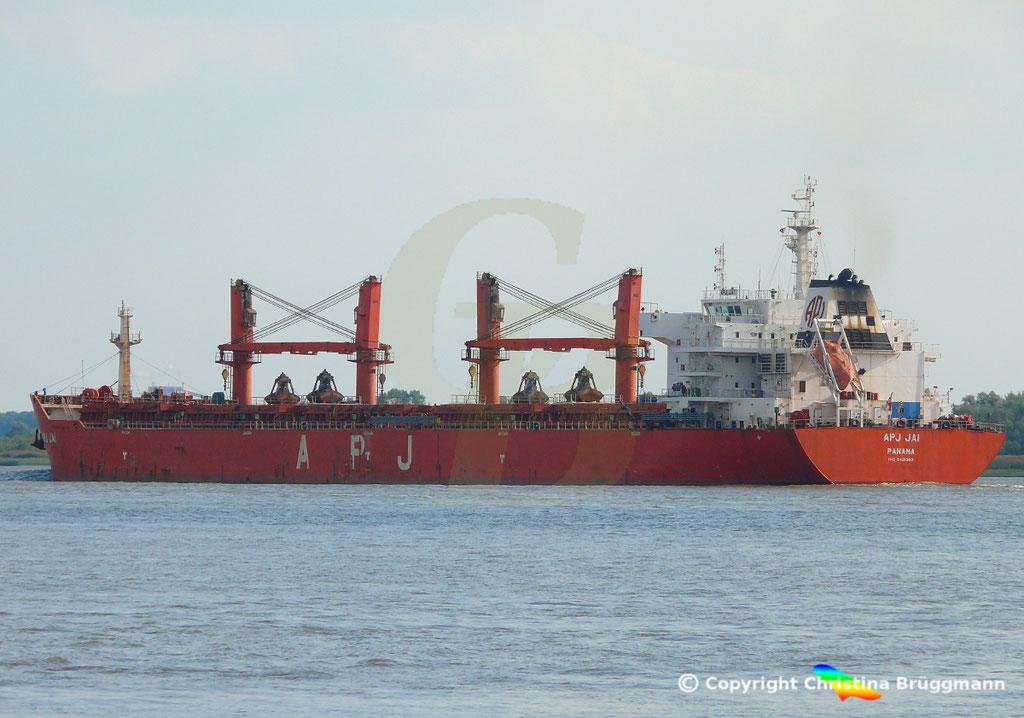 Bulk Carrier APS JAI, Elbe 14.09.2018, Bild 5