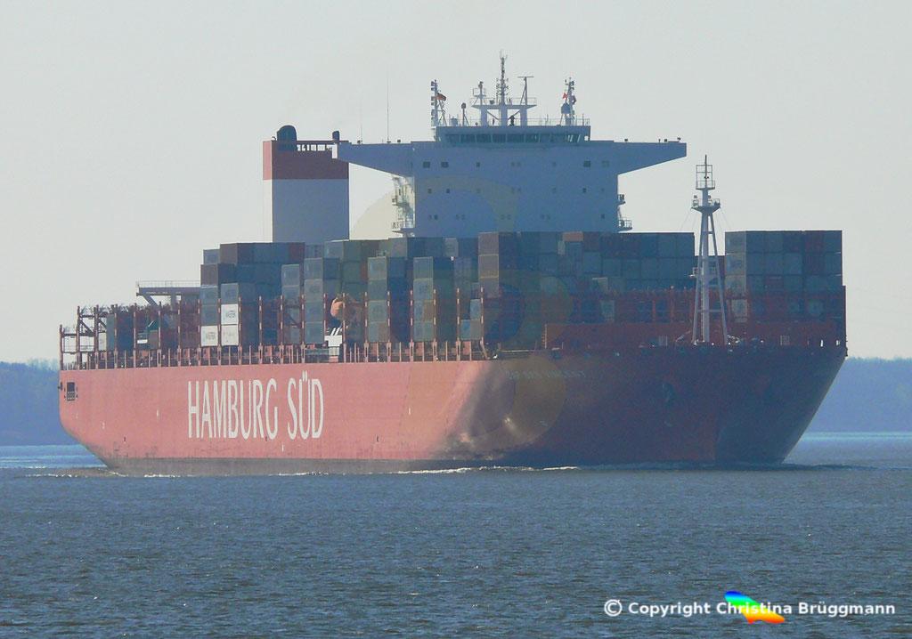 Hamburg Süd Containerschiff CAP SAN VINCENT, Elbe 17.04.2019,  BILD 1