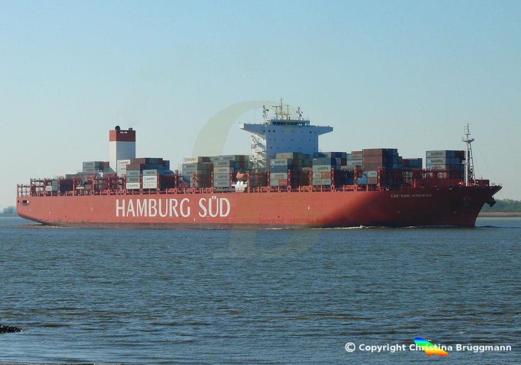 Hamburg Süd Containerschiff CAP SAN VINCENT, Elbe 17.04.2019,  BILD 3
