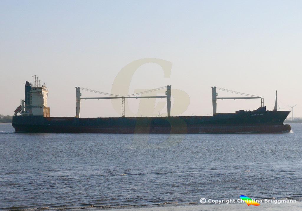 Containerschiff BOMAR VALOUR, Elbe 16.04.2019,  BILD 5