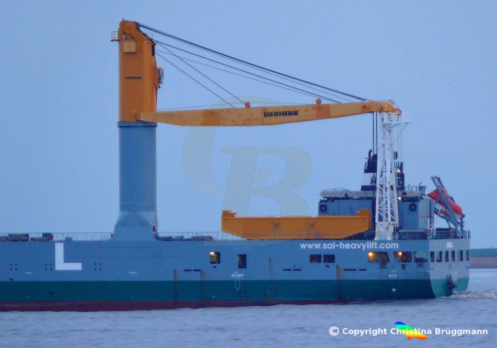 SAL Heavy Lift Schwergutfrachter ANNA, Elbe 30.01.2019,  BILD 5
